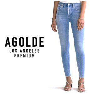AGOLDE USA Blue Chloe Skinny Jeans